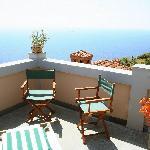 Vista mare delle Cinque Terre dal balcone