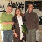 me and the most gracious hosts in Tuscany!