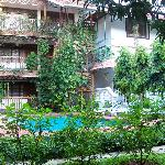 Der Innenhof des Courtyard macht dem Names des Hotels alle Ehre