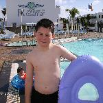 ryan enjoing the pool