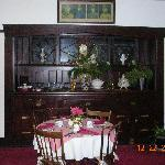 Part of the dining room with a nice hutch