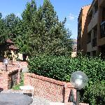 Courtyard at interior of hotel