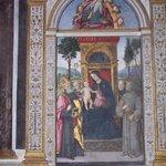 Altarpiece of the Madonna enthroned by Pinturicchio in della Rovere chapel