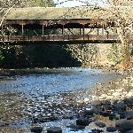 Covered bridge at the park