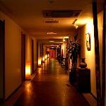 Shimoda Yamatokan corridor in basement