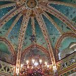 Inside - a painted ceiling