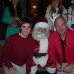 Chrismas eve with Santa in lobby