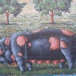 Farmer John Pig Mural