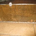 Bathroom Door Gouged, Scraped