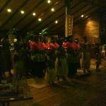 The Fijian Dance Team during Dinner