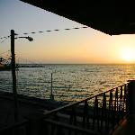 sunrise from the deck outside the room