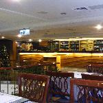 The dining area where free breakfast is served daily