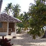 The beachfront bungalows of Dano Beach Resort on Malapascua Island, Philippines