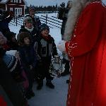 The children meeting Santa !!