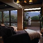 The quiet room in the spa at Miraval