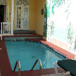 our courtyard and pool