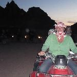 Quad biking in desert