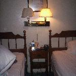 Quaint and comfortable.  My light is not on b/c there is no lightbulb in it!