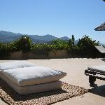 Poolside cushions