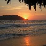 Sunset over Deer Island as seen from The Inn at Mazatlan
