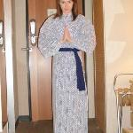 In our room wearing kimono provided by the hotel