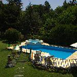 Pool and garden seen from our terrace