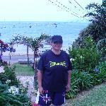 Behind me is Big Oneroa beach, its gorgeous!