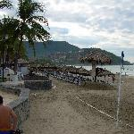 Beachfront palapas