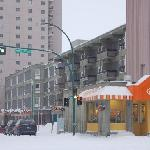 Center Square Mall, Yellowknife Inn, and A&W