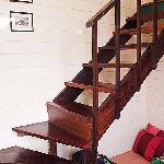 Stairway to loft sleeping