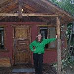 Me outside our cabin
