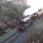 East Lancs Railway, Leander approaching Rawtenstall, Lancashire, UK