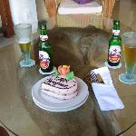 Cake they made us at thier bar