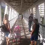 The foot bridge to Metro Centro