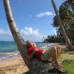 Strandfoto nach Rechts mit mir