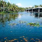 The pond at the Nam Hai Spa