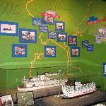 Riverboat display, along with river map.