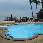 The beach front swimming pool