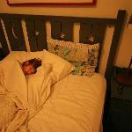 la chambre ou plutot le lit :-)) oui je sais je me lève très tôt !