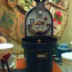 Coffee Roaster in Back Room