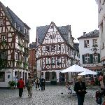 Walking through the medival  town of Mainz