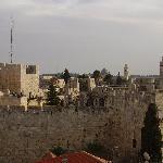 veduta sulla cittadella di David dalla finestra della stanza
