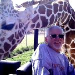 Dad and Chico with Giraffe.