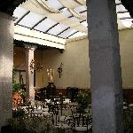 Interior courtyard/breakfast area.
