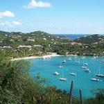 Cruz Bay and the Westin's private beach