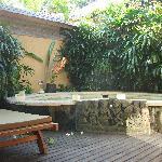 Terrasse avec jaccuzi