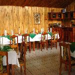 The restaurant's dining room.
