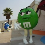 Outside the M&M store
