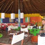 Outdoor beach restaurant