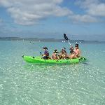 Kayaking on crystal clear, calm waters